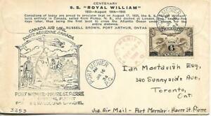 First Canadian Airmail Flight Port Menier - Havre St Pierre 1/16/34 AAMC#548a