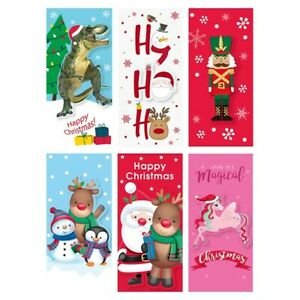 Christmas Money Wallets Cute Children Style pack of 6