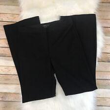NWT $146 BCBG Maxazria Womens Size 4 Black Plain Front Dress Pants Trousers