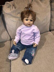 """Beautiful Red Hair 24"""" Monika Gerdes Vinyl Ashton Drake Toddler Size Doll Europe"""