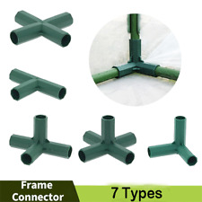 New listing 4Pcs Structure Connectors Pole Joiners Joints Greenhouse Frame Structures Parts