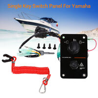 12V Single Key Vertical Control Switch Panel Part For Yamaha Outboard Boat Yacht