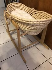 Jolly Jumper Rocking Moses Basket Stand Natural Gently Used