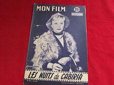 MON FILM  Magazine  inc Guilietta MASINI & Jayne MANSFIELD  25/12/1957  No 592