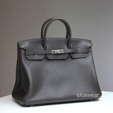Ebene & Silver 40cm AUTHENTIC HERMES BIRKIN BAG
