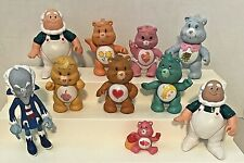 Lot of 9 Vintage 1983 AGC Care Bears PVC Poseable Figures