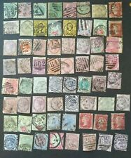 Queen Victoria QV GB stamp collection accumulation good mix low grade 56 stamps