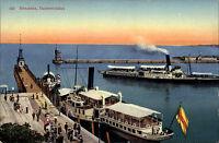 Konstanz ~1910 Hafeneinfahrt Hafen Schiffe Dampfer Harbor Steamship ungelaufen