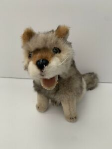 Discovery Channel Commonwealth Toy Wolf Grey Brown Plush 1999 Animal No Sound