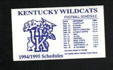 Kentucky Wildcats--1994-95 Football & Basketball Schedule--Jean's Restaurant
