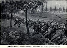 Anversa 1914: creare preadesione di munizioni in la linea più avanzata raggiunta * antique print