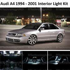 PREMIUM Audi B5 A4 S4 1994-2001 INTERIOR WHITE FULL UPGRADE LED LIGHT BULBS KIT