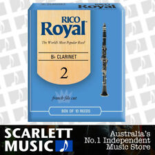 Rico Royal Bb Clarinet Reed 10 Pack Reeds Size 2.0 ( Two ) RCB1020 10PK