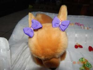 """SO CUTE! ASSORTED LITTLE 1"""" DOG Hairbows double PRO-GROOM bands"""