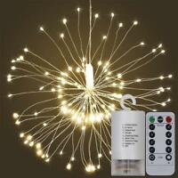 Firework LED Copper Fairy Wire String Lights Remote Control Christmas Decor BT