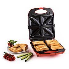 Rojo 3 en 1 XXL Emparedados Maker 1300w Parrilla Eléctrica Waffle PRESS GB
