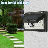 LED Solar PIR Motion Sensor Wall Lights Outdoor Garden Security Lamps Waterproof