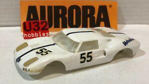 K&b aurora Bodywork Ford Gt #55 White For Restore