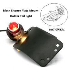 1X 12V Motorcycle LED Cafe Racer Metal  Brake Side License Plate Stop Tail Light