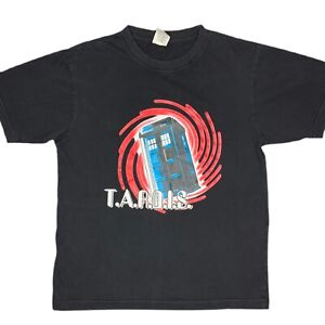 Doctor Who Tardis BBC Mens Black T-Shirt Size Small Sci-Fi