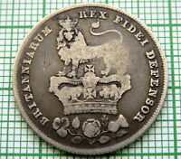 GREAT BRITAIN GEORGE IV 1826 ONE SHILLING, SILVER PATINA
