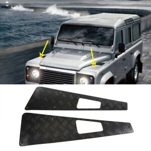 Aluminum Alloy Hood Protection panel Checker Land Rover Defender 90 110 130 2004