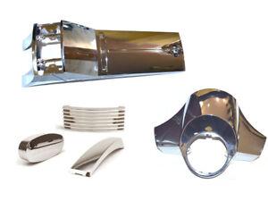 Vespa PX LML Chrome horn /top crest grill link cover kit