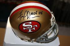 SF 49ERS MINI HELMET SIGNED BY FRED DEAN HOF 2008