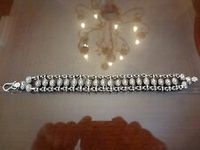 LARGE VINTAGE STERLING SILVER BRACELET-925-LOT OF DETAIL