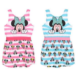 Girls Disney Minnie Mouse QE1284 Sleeveless Summer Dress