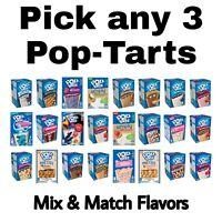Kellogg's Pop Tarts Toaster Pastries Pop-Tarts 3 Boxes 8 Ct 24 Total Mix & Match