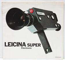Leitz Wetzlar Leica Leicina Super Electronic Sales Brochure 1970s / RARE