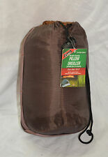 Camp fleece pack pillow size 14 x 9 inches color bown ( refbte#36 )