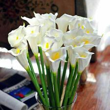 Restposten 10x KUNSTBLUMEN Latex Calla Lily Sonnenblumen Deko Blumen Pflanz K0R7