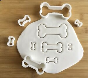 Dog Bone Cookie Cutter Treats Set of 5 Biscuit, Pastry, Fondant, Bread Cutter