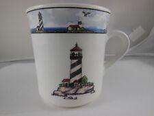 Totally Today Coastal Lighthouse coffee tea mug cup Nautical theme