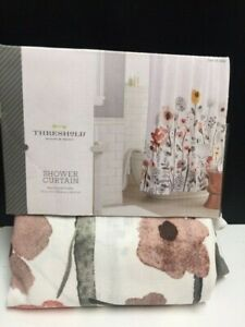 """Threshold Shower Curtain Multicolor Floral 72""""x72"""""""