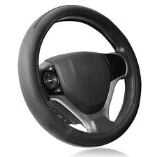 AU Steering Wheel Cover Auto Car Truck Van SUV Solid Black Leather Universal Fit