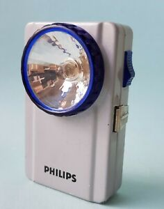 Original Vintage PHILIPS Signal Torch Flashlight Lamp  Working in Good Condition