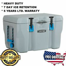 Insulated portable ice Cooler HEAVY DUTY 55 Quart picnic beach pool outdoors