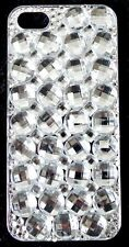 Bling White Clear Big Rhinestone Crystal Iphone 5 5S Case Cover Phone Cell Mobil