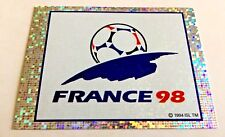 FRANCE 98 mascotte logo figurina World Cup 98 Panini - retro BLU blue back NUOVA