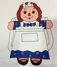 Raggedy Ann Doll Backpack Fabric Panel Cut and Sew Craft Tote Bag Purse Vintage