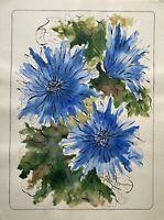 Natura Morta Fiori Fiordaliso Blu Fiori Blu Fiori Espressiva