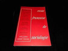 Revue française de sociologie july/september 1973