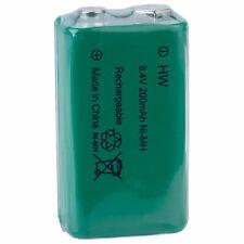 Hi-Watt HR9V200 PP3 Rechargeable Battery 8.4V 200mAh NiMH Cell