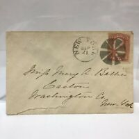 Antique Envelope Mailed to Mary A Battie Easton Washington Co New York Embossed