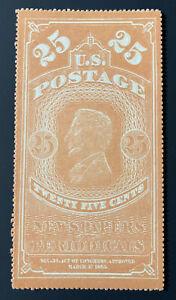 US Newspaper Stamp Scott #PR3 Mint NH NGAI Stunning & Beautiful Condition CV$400