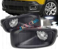 For Jeep Renegade 2015-2018 LED Bulb Fog Lights Bumper Cover Bezel Driving j Set