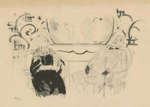 "Marcel Vertes Original lithograph ""TWO FIGURES"""